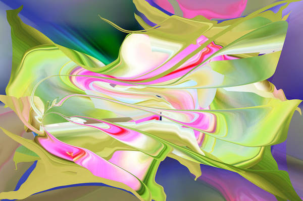 Digital Art - Flower Song Abstract by rd Erickson