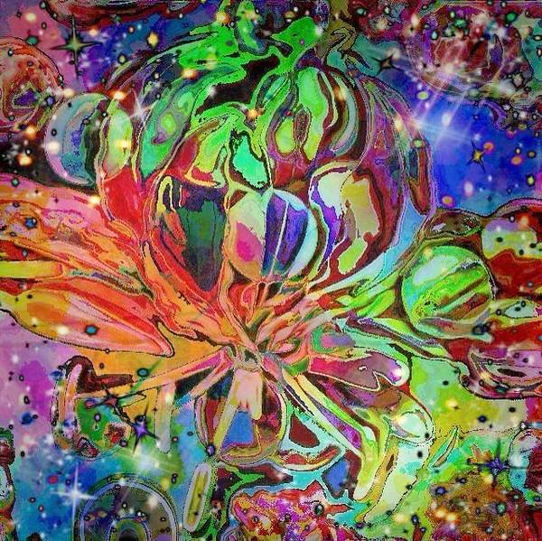 Digital Art - Flower Sphere by Karen Buford