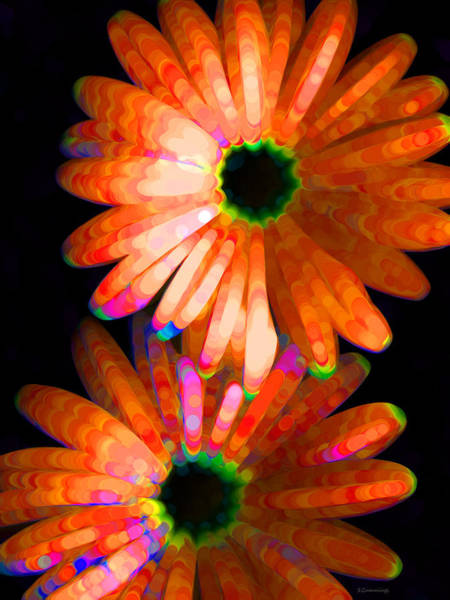 Wall Art - Painting - Flower Study 5 - Vibrant Orange By Sharon Cummings by Sharon Cummings
