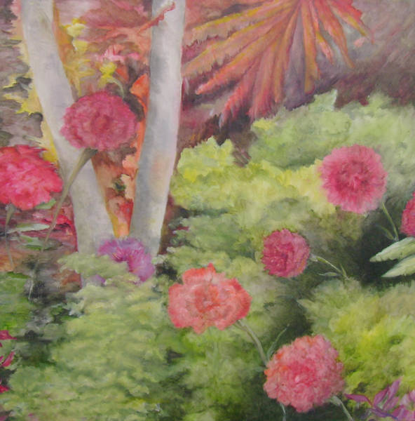 Utilitarian Painting - Flower Thicket by Cris Johnson