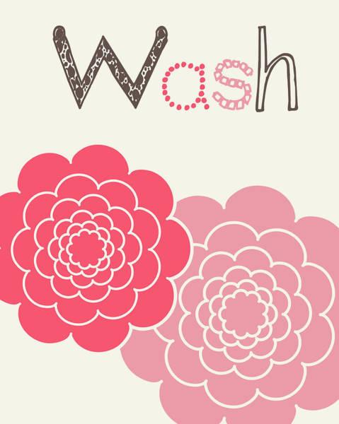 Bath Room Wall Art - Painting - Flower Wash by Tamara Robinson