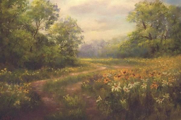 Pastel - Flowering Field by Bill Puglisi