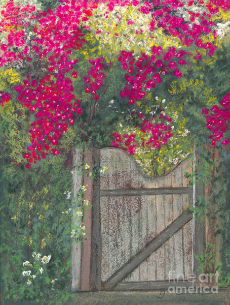 Gateway Arch Painting - Flowering Gateway by Ginny Neece