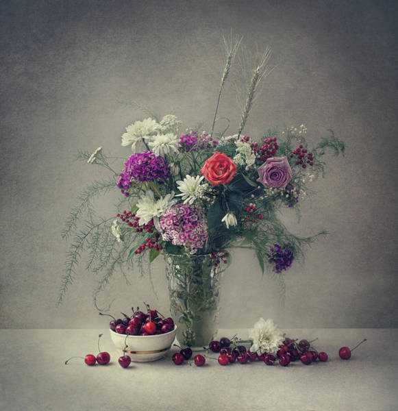 Wall Art - Photograph - Flowers And Cherries by Dimitar Lazarov -