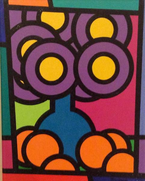 Brian Wilson Wall Art - Painting - Flowers And Oranges by Brian Wilson