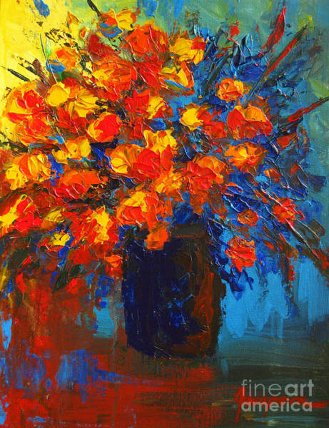 Painting - Flowers Are Always Welcome IIi by Patricia Awapara