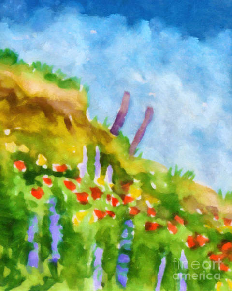Painting - Flowers At The Coast by Lutz Baar