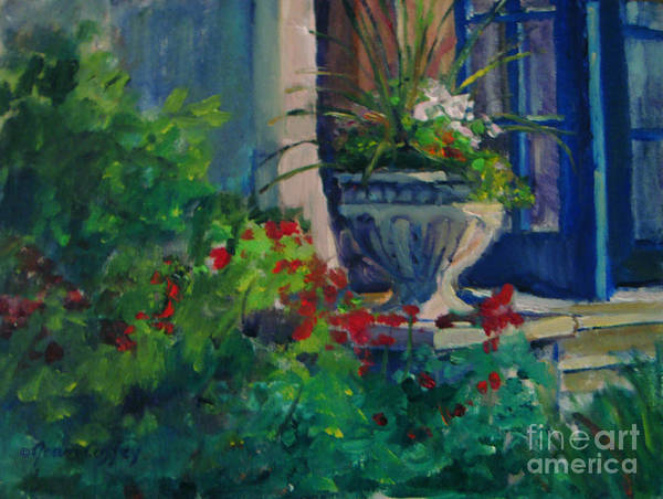 Painting - Flowers At The Museum's Entrance by Joan Coffey