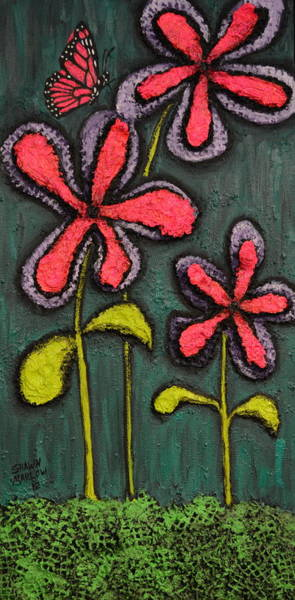 Mojo Painting - Flowers For Sydney by Shawn Marlow