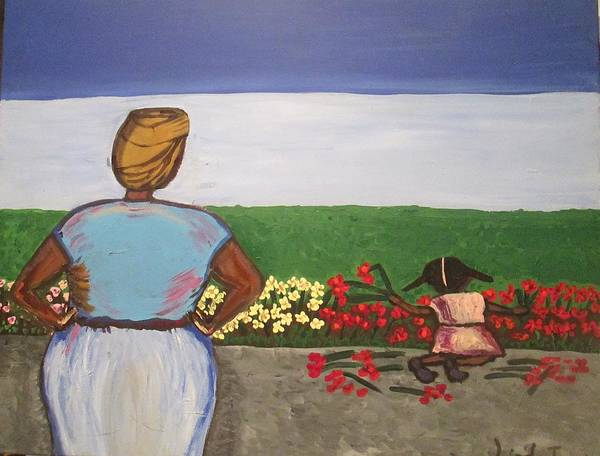 Painting - Flowers For Tantie by Jennylynd James