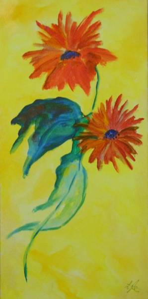 Lyle Painting - Flowers by Lord Frederick Lyle Morris - Disabled Veteran