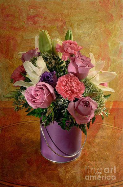 Photograph - Flowers From A Friend by Lois Bryan