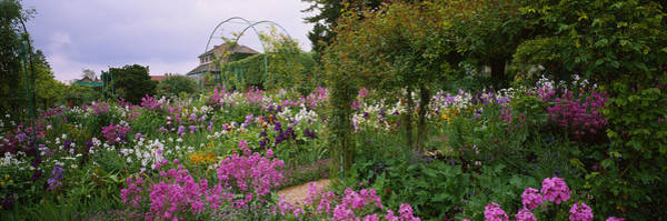 Giverny Photograph - Flowers In A Garden, Foundation Claude by Panoramic Images