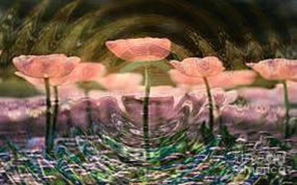 Wallpaper Mixed Media - Flowers In Heat by PainterArtist FIN