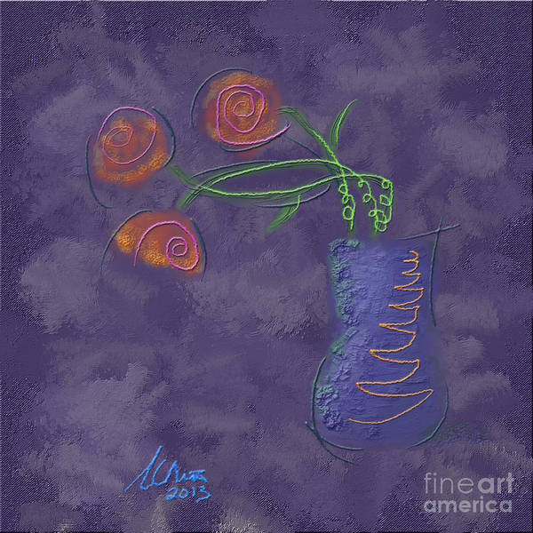 Flowers In Vase Art Print