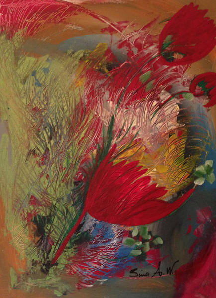 Painting - Flowers Of My Garden by Sima Amid Wewetzer