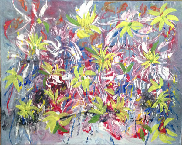 Painting - Flowers Of The Heaven by Sima Amid Wewetzer