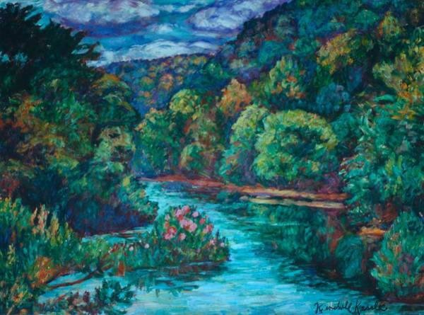 Painting - Flowers On The Little River by Kendall Kessler