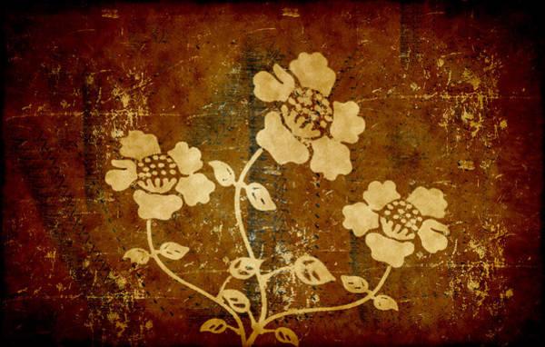 Digital Art - Flowers On The Wall by Milena Ilieva