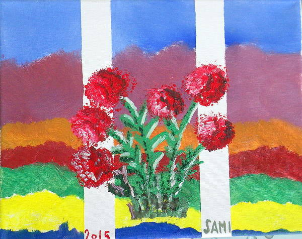 Wall Art - Painting - Flowers by Samuel Ciocan