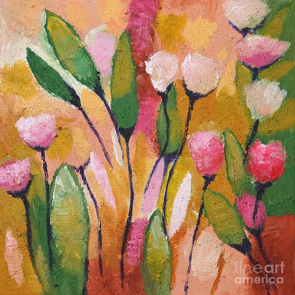Painting - Flowers With Yellow by Lutz Baar