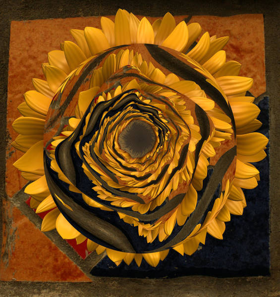 Distortions Digital Art - Flowersun - 09279ff223a01222 by Variance Collections