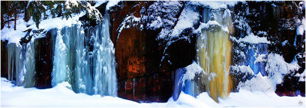 Photograph - Flowing Colors In A Winter Landscape by Wayne King