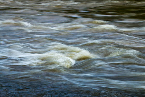 Photograph - Flowing Rapid Water In The Thornapple River by Randall Nyhof