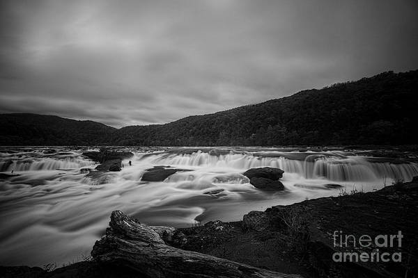 Photograph - Flowing Water Of Sandstone Falls  by Dan Friend