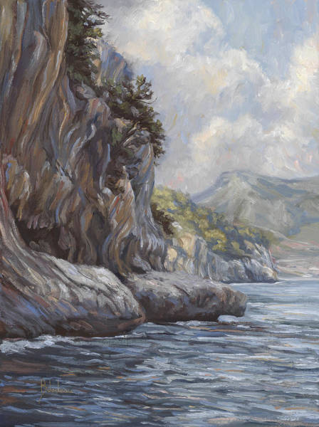 Outdoors Painting - Flowing Waters by Lucie Bilodeau