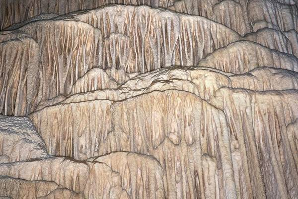 Stalagmite Photograph - Flowstone Formations by David Parker