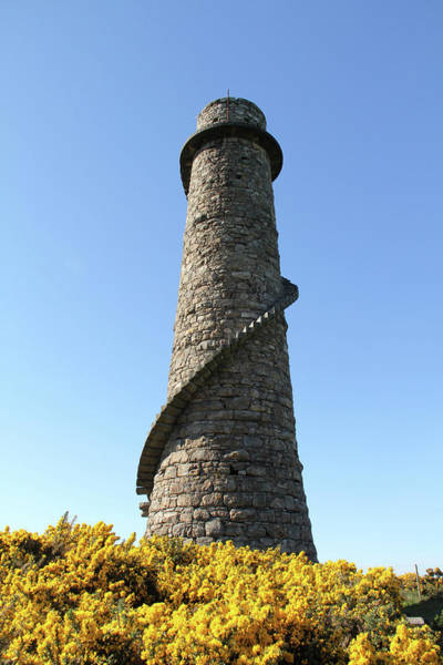 Photograph - Flue Chimney Ruin At Old Mine In Dublin by Miss Pearl