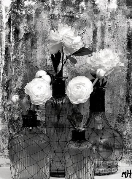 Wire Wrap Photograph - Fluers In Pretty Bottles by Marsha Heiken