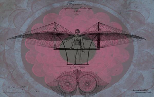 Digital Art - Flugmaschine Erfunden Von Jacob Degen In Wien - Revised by Lesa Fine