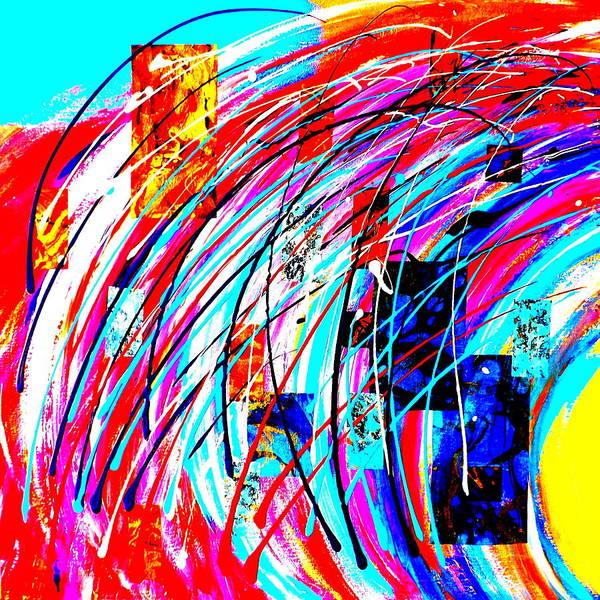 Painting - Fluid Motion Pop Art by Darren Robinson