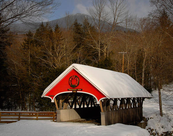 Photograph - Flume Covered Bridge by Ken Stampfer