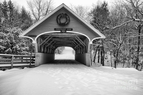 Photograph - Flume Covered Bridge - White Mountains New Hampshire Usa by Erin Paul Donovan