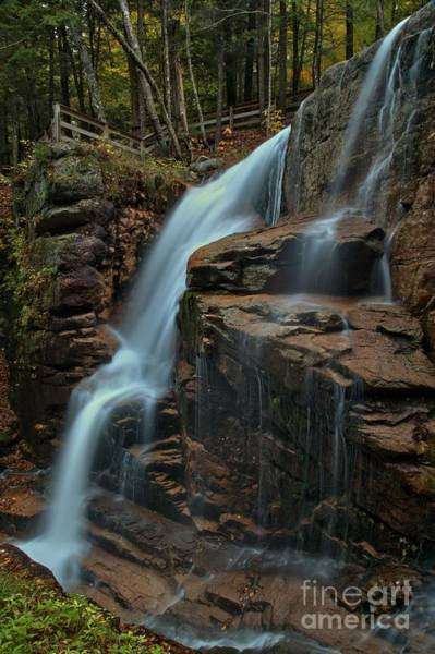 Photograph - Flume Gorge Waterfall by Adam Jewell