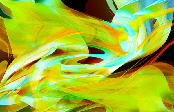 Digital Art - Fluorescent Movement by Roy Erickson
