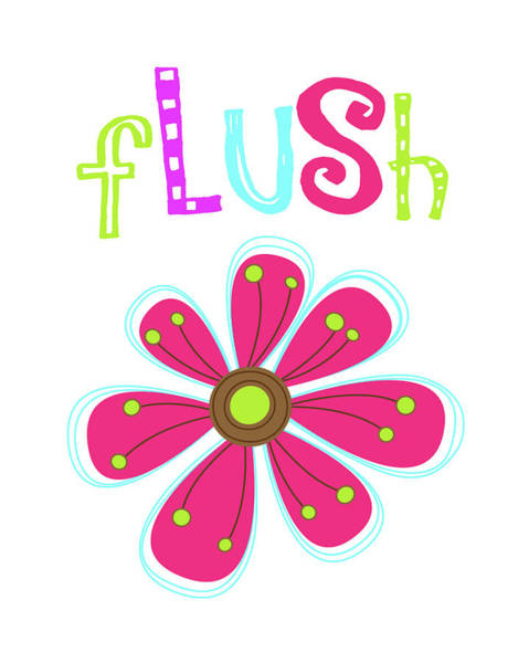 Bath Room Wall Art - Painting - Flush Flower by Tamara Robinson
