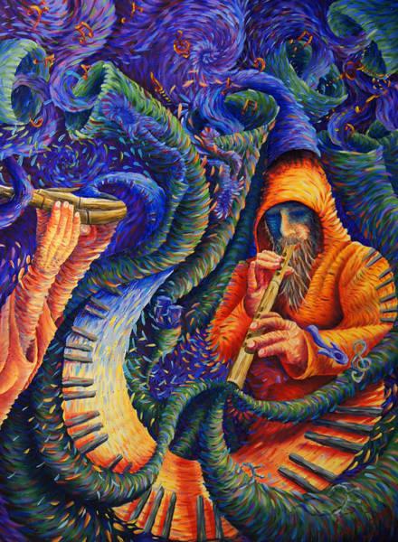 Genie Painting - Flute Genie by Josh Long