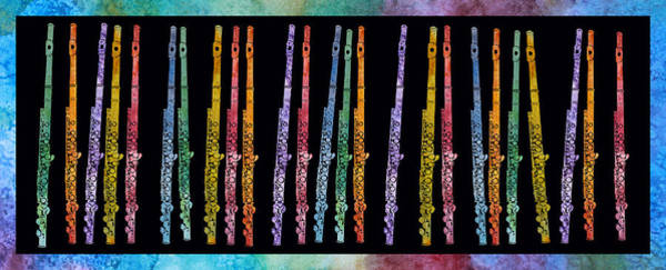 Marching Band Painting - Flutes In Full Color by Jenny Armitage