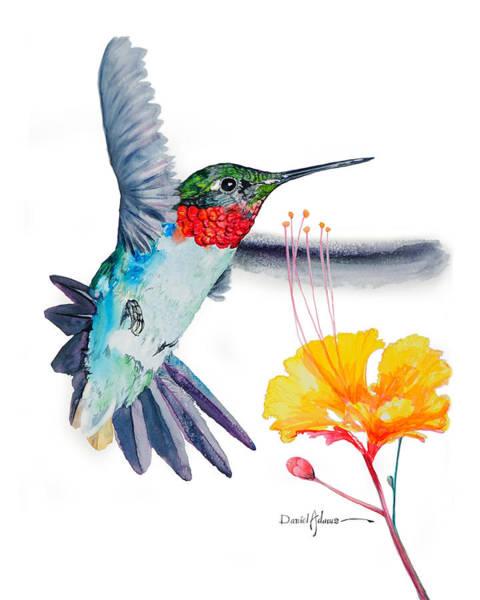 Painting -  Da177 Flutter By Daniel Adams by Daniel Adams