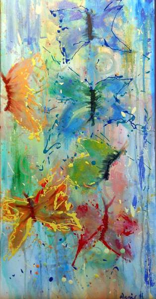 Painting - Flutter In The Rain by Pam Halliburton