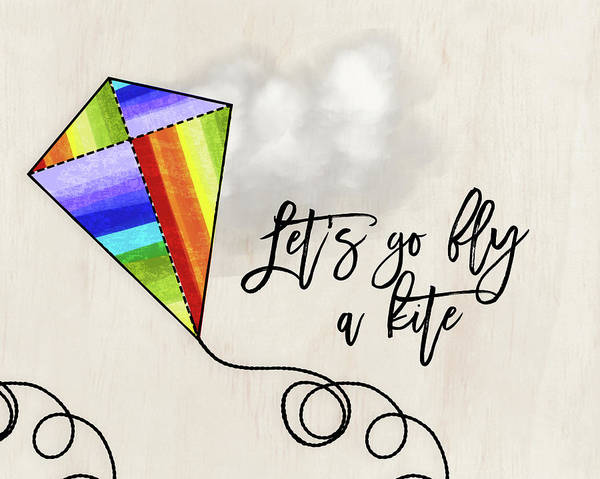 Kite Wall Art - Painting - Fly A Kite by Amy Cummings