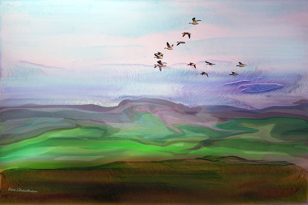 Digital Art - Fly By Digital Painting by Kae Cheatham