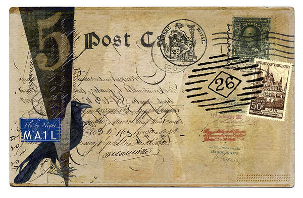 Fly By Night Mail Art Print