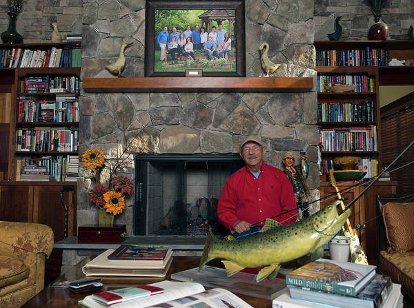 Book Shelf Photograph - Fly Fisherman Al Caucci by Tom Sperduto