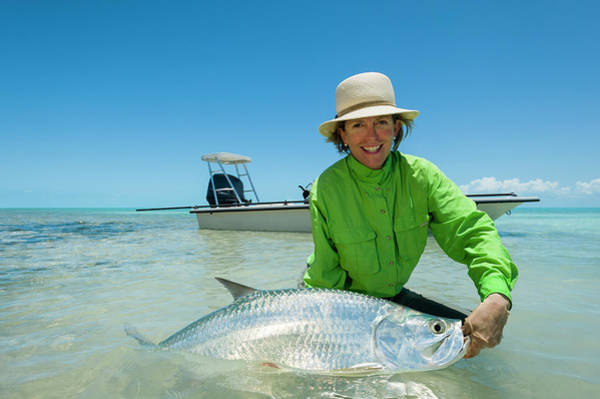 Andros Photograph - Fly Fishing For Tarpon In The Bahamas by Mark Lance