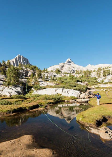 Fly Fishing Photograph - Fly Fishing In The High Sierra by Josh Miller Photography